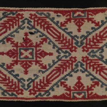 Textil hispanomusulmán de rombos y crucetas 66 x 9,5 cm #A0904