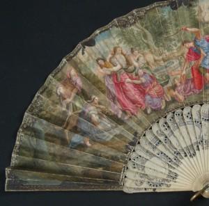 Abanico del siglo XVIII. 29,5 cm #D0009