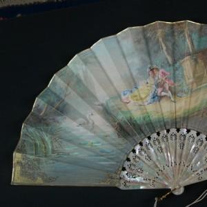 Abanico antiguo. Isabelino. España. 35,7 cm #D0008