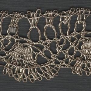 Banda puntilla de encaje erudito, punto de España, fin del siglo XVI. 236 x 2,5 cm #A1301