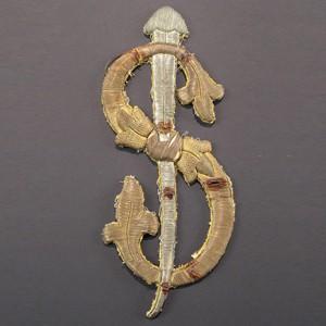 Brocado para cofradía religiosa, Madrid (España) 26,7 x 10,7 cm #C0601