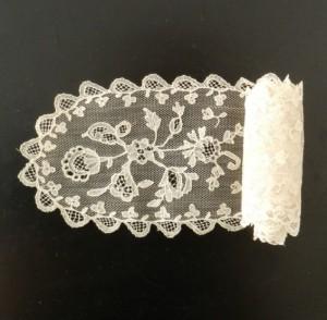 Corbata de encaje antiguo de Alençon (Francia) 112 x 9,5 cm #A0613