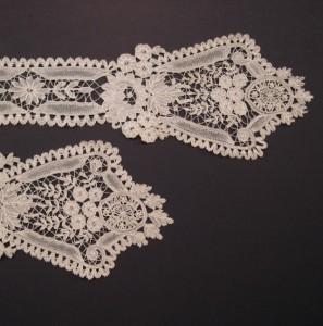 Corbata de encaje antiguo, Bélgica 106 x 11 cm #A0608