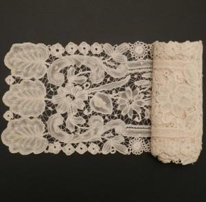 Corbata de encaje antiguo de Bruselas (Bélgica) 132 x 15,5 cm