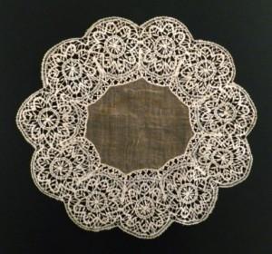 Pañuelo de encaje antiguo de Almagro (España) #A1405