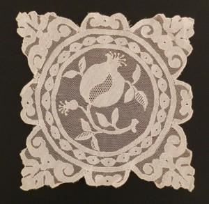 Pañuelo de encaje antiguo de Granada (España) #A1407
