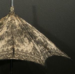 Sombrilla con encaje de Chantilly (Francia) 90 cm #F0101