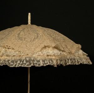 Sombrilla con encaje Punto a la Aguja (Francia) 88 cm #F0201